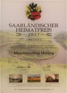 Heimatpreis Maschinenbau Herzog